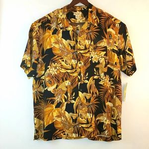 NWT Panama Jack Mens tropical XL shirt